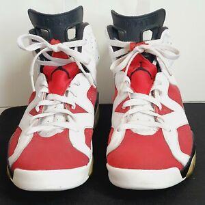 NIKE Air Jordan 6 Retro Carmine white red black leather trainers UK 10