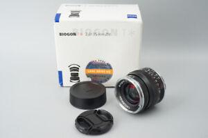 Carl Zeiss Biogon 35mm f/2 F2 T* ZM Lens, Black MF, Leica M Mount, VM