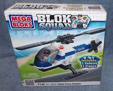 MEGA BLOKS BLOK SQUAD POLICE FORCE CHOPPER SET #2433