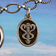 VOODOO - PETITE MEDAL - Damballah Veve Sterling Silver Charm Pendant
