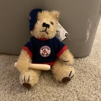 NEW Boston Red Sox Plush Stuffed Teddy Bear w/ Baseball Bat Good Stuff MLB RARE