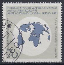 Berlin Germany 1988 Θ Mi.817 Währungsfond IWF Bank Weltkarte Map [blg161]