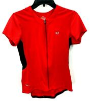 Pearl Izumi Womens Large Red Short Sleeve 1/4 Zip Cycling Jersey NWOT