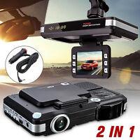 2 in1 HD Car DVR CCTV Dash Camera Cam Recorder Radar Laser speed Detector Trafic