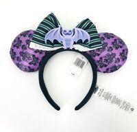 Mickey Mouse Disney Parks Haunted Mansion Bat Hallowmas 2020 Purple Ear Headband