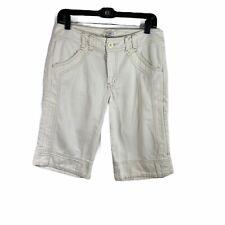 white house black market white bermuda cropped short jeans