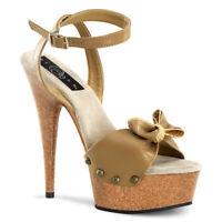 "PLEASER Delight-642W 6"" Heel Platform Sandal"