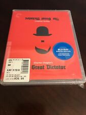 The Great Dictator 1940 (2011 Criterion Blu-Ray) Charlie Chaplin Sealed New!