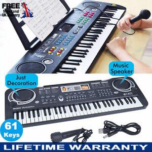 MUSICAL KEYBOARD PIANO 61 KEYS ELECTRONIC ELECTRIC DIGITAL BEGINNER KIDS SET NEW