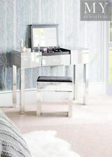 APOLLO Mirrored Dressing Table Fliptop Hidden Compartment Make up Mirror