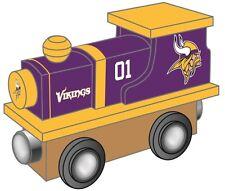 Minnesota Vikings Wooden Toy Train [NEW] NFL Wood Christmas Kids Boys Gift Set