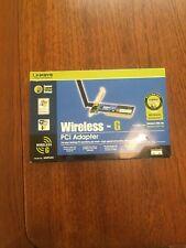 Linksys WMP54G Wireless-G PCI Adapter, Used
