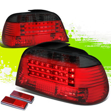 FOR 95-01 BMW E38 7-SERIES SMOKED LENS HOUSING RED LED REAR SIGNAL TAIL LIGHTS