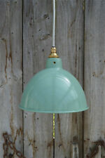 Vintage green grey industrial small hanging light pendant ceiling lamp BL2G3