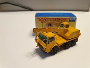 Matchbox Lesney RW No 63 Dodge Crane Truck with Repro Box