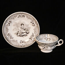 Staffordshire Childs Pearlware 2pc Tea Set ~ RABBITS Wood & Brownfield c1840