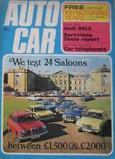 Autocar magazine 12 April 1973 featuring Audi road test