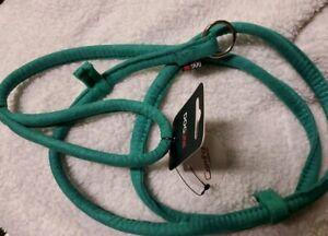 "Dogline Soft Padded Comfort Microfiber Slip Lead Leash W3/8"" L5' Green"