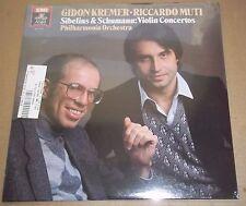Gidon Kremer/Muti SIBELIUS/SCHUMANN Violin Concertos - Angel DS-37957 SEALED