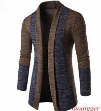 Men Knitted Cardigan Jacket Slim fit Long Sleeve Casual Sweater Coat Wild Blazer