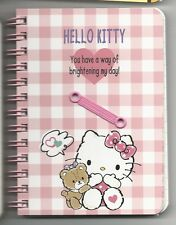 Sanrio Hello Kitty Spiral Notebook Hard Cover Plaid