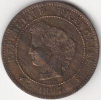 1897 A France 5 Centimes | European Coins | Pennies2Pounds
