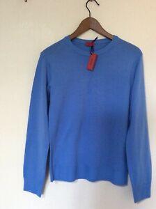 ISAIA Napoli Italian Pure Wool Blue Jumper size M NWT RRP £595