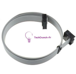 2.54mm 70CM 10 Pin USBISP USBASP JTAG AVR Download wire 10P Ribbon Cable 2.3ft