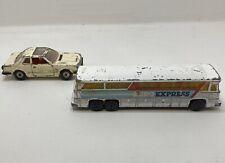 Vintage Corgi Euro Express Bus & Honda Prelude