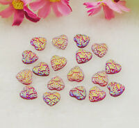30PCS resin Heart Bead flatback Scrapbooking for phone Crafts DIY H098-4
