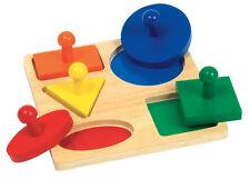 Children's Manipulatives Guidecraft Geometric Puzzle Board G527
