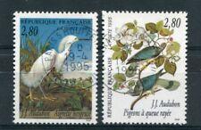 FRANCE - 1995 timbres 2929/2930, oiseaux, oblitérés