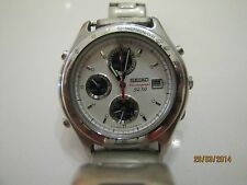 SEIKO Chronograph SQ50 Quartz Chronograph 100% working Date  WOW!!! Analog