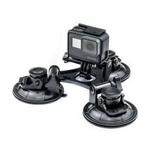 Triple Suction Cup Car Mount For GoPro Hero 7 6 5 4 3 Action Cam Go Pro HD