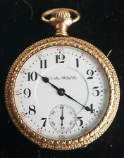 in very Ornate Gold Filled Case Exceptional, Big Hamilton 21 jewel Pocket Watch