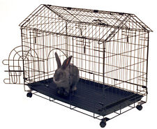 "Kennel-Aire Bunny House 30"" Rabbit Cage Small Pet Pen Portable Shelter Frame"