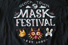 Zelda Majora's Mask clock town mask festival T shirt novelty tee black Medium