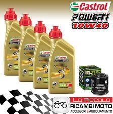 KIT TAGLIANDO 4 LT OLIO CASTROL POWER 1 10W40 FILTRO Triumph Tiger 900 1997 1998