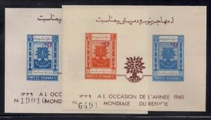 Afghanistan   1960   Sc # B36a-b   Refugee Year   s/s   MLH   (53191)