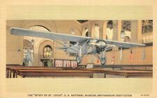 SPIRIT OF ST. LOUIS Smithsonian Institution Lindbergh Airplane Vintage Postcard