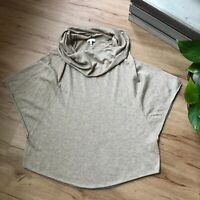 Joie Tan Brown Batwing Wool Cashmere Short Sleeve Cowl Neck Sweater Women's XS