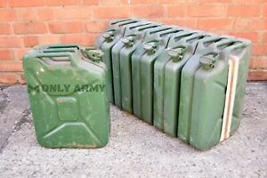German Army 20 Litre Fuel Can Metal Jerry Can Diesel Petrol Storage 20L Military