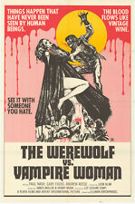 WEREWOLF VS. THE VAMPIRE WOMEN Movie POSTER 27x40 Paul Naschy Gaby Fuchs Barbara