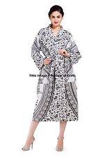 Women Lady Indian Long Bath Robe Night Dress Gown Spa Dress Indian 100% Cotton