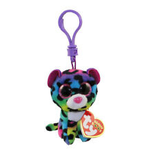 "TY Beanie Boos 3"" DOTTY Rainbow Leopard Clip Stuffed Animal Collectible Plush"
