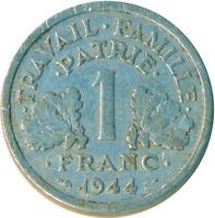 COIN / FRANCE / 1 FRANC 1944   #WT4907