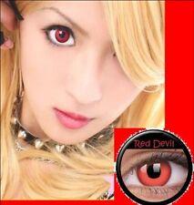 Crazy Red Witch Lenses Lentilles Kontaktlinsen Cosplay Party Halloween lens Safe