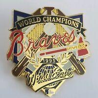 Atlanta Braves MLB World Series 1995 Baseball Logo Vintage Lapel Pin