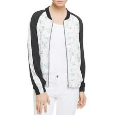 Sanctuary 3487 Womens Outerwear Floral Print Crepe Bomber Jacket Coat