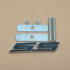 Mount Front Grille Metal Silver With Black SS Badge Letter Trim Emblem Chevrolet